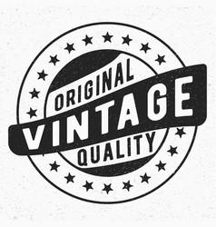 Original vintage stamp vector