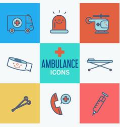 Modern medical icon set vector