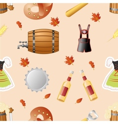octoberfest seamless pattern vector image