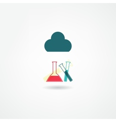 Chemistry icon vector