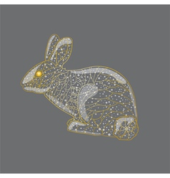 Abstract golden rabbit vector image