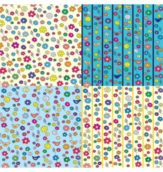 Ditsy seamless pattern vector