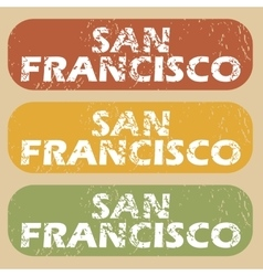 Vintage san francisco stamp set vector