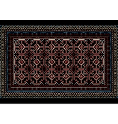 Mottled oriental carpet with original pattern vector