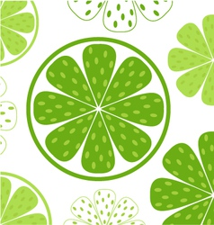 lime slices pattern vector image