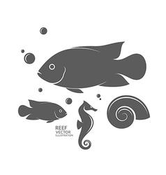 Fish Seahorse Sea creature vector image
