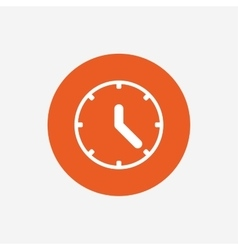 Clock sign icon mechanical clock symbol vector