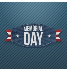 Memorial day patriotic label with text vector