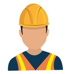 Avatar worker man graphic vector