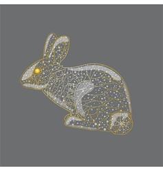 Abstract golden rabbit vector image vector image