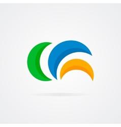 Abstract semicircle design logo vector image