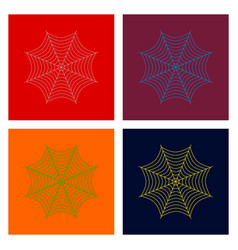 Assembly flat spider web vector