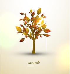 Autumn tree design vector