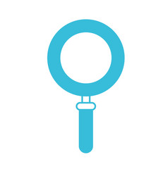 blue color silhouette of magnifying glass icon vector image vector image
