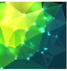 Bright yellow green random sizes low polywith vector