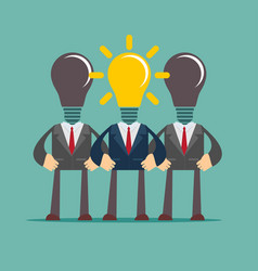 Business person having an bright idea light bulb vector