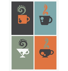 Caffee cards vector