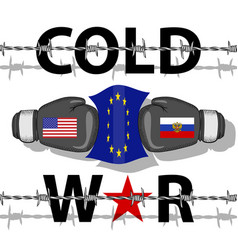 Cold war-conflict vector
