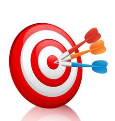 dart vector image vector image