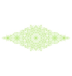 Decorative floral mandala border element vector image