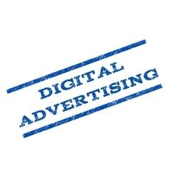 Digital advertising watermark stamp vector