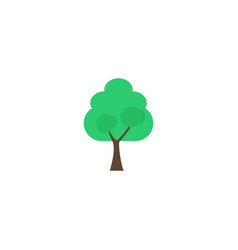 flat icon tree element of vector image vector image