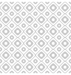 Geometry seamless pattern with circles and squares vector image