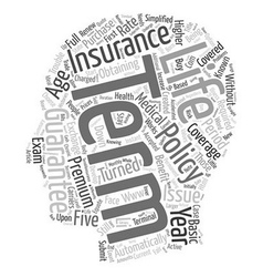 Guaranteed issue term life insurance text vector