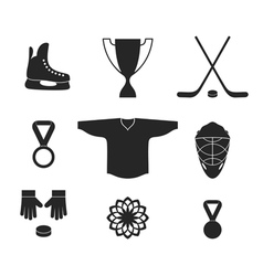 Ice Hockey Icon set vector image vector image