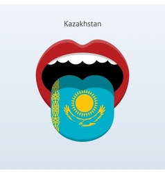 Kazakhstan language abstract human tongue vector