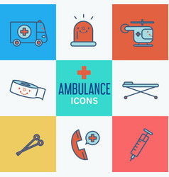modern medical icon set vector image