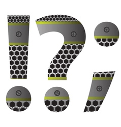 perforated metal question mark vector image vector image