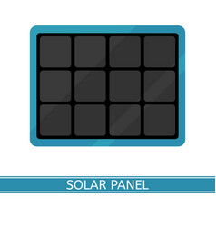 portable solar panel isolated on white vector image
