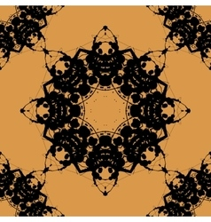 Print based on rorschach inkblot test abstract vector