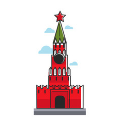 Red square tower vector
