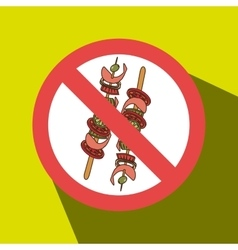 Skewer fast food unhealth prohibited vector