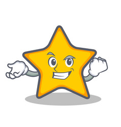 Successful star character cartoon style vector
