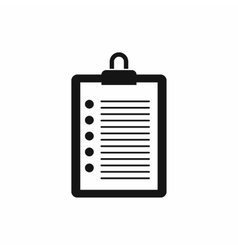 To do list icon simple style vector image vector image