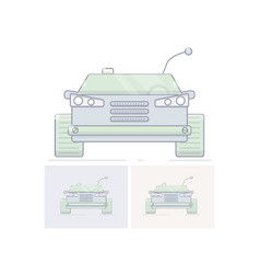 toy remote control cars flat linear vector image vector image