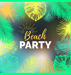 Vintage beach party exotic vector