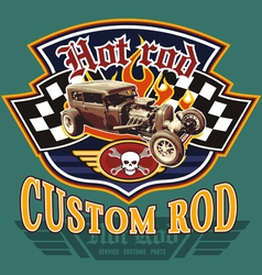Vintage hot rod garage vector