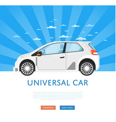 Website design with family universal city car vector