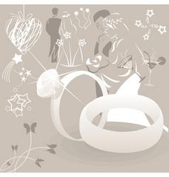 wedding clip art vector image vector image