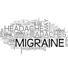 What you need to know about migraine headache vector