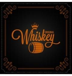 whiskey barrel label design logo background vector image