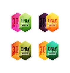 Abstract geometric sale labels vector