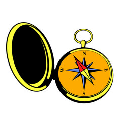 vintage compass icon icon cartoon vector image