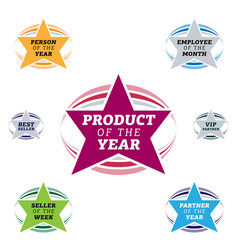 bestseller star label vector image