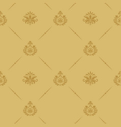Seamless pattern baroque style vector