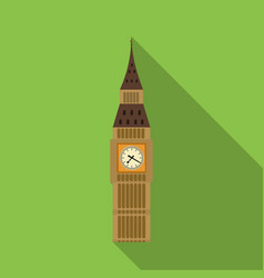 Big ben icon in flat style isolated on white vector